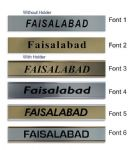 Faisalabad Clock Name Plate |World Time Zone City Wall clocks Sign custom Plaque
